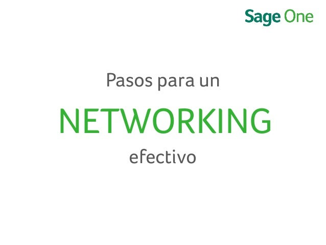 Pasos para un NETWORKING efectivo