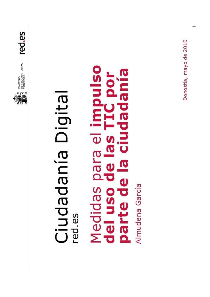 Congreso Internacional Ciudadanía Digital. Ponencia de Almudena García, Red.es