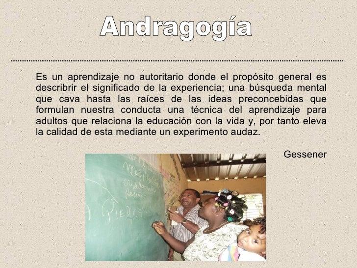Presentacion Andragogia