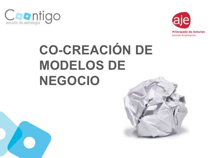 CO-CREACIÓN DE MODELOS DE NEGOCIO