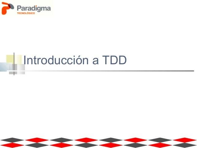 Introducción a TDD