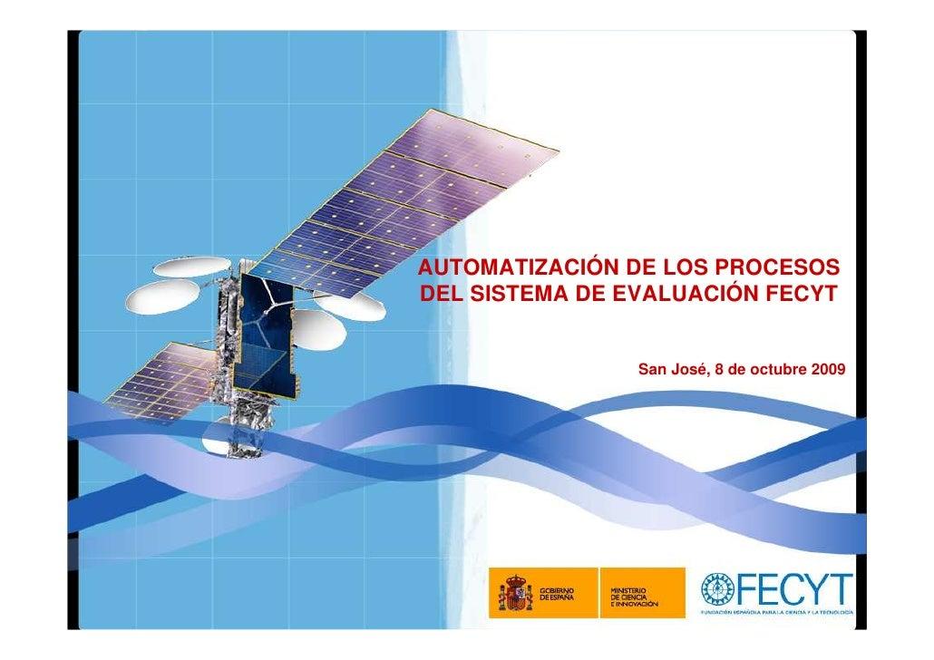 Automatización de Evaluación FECYT- Coslado