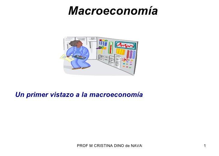 Macroeconomía Un  primer vistazo a la macroeconomía