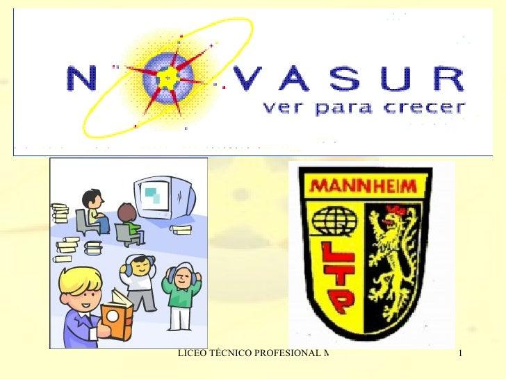 Presentacion De Programa Novasur  Mannheim