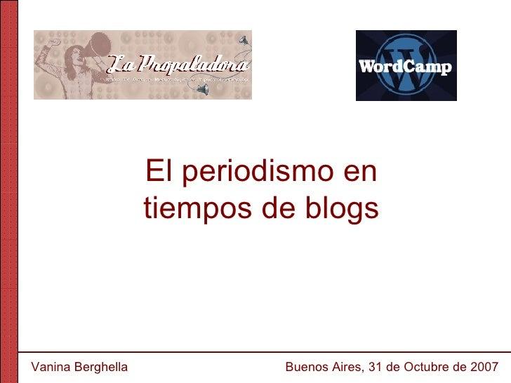 Presentacion de Vanina en WordCamp 2007