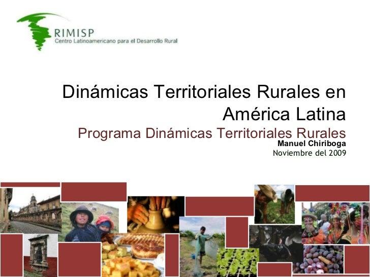 Dinámicas Territoriales Rurales en América Latina Programa Dinámicas Territoriales Rurales Manuel Chiriboga Noviembre del ...