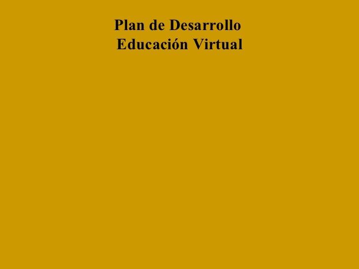 Presentacion Educación Virtual