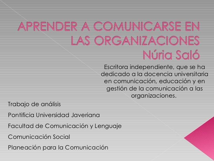 Trabajo de análisis  Pontificia Universidad Javeriana  Facultad de Comunicación y Lenguaje Comunicación Social Planeación ...