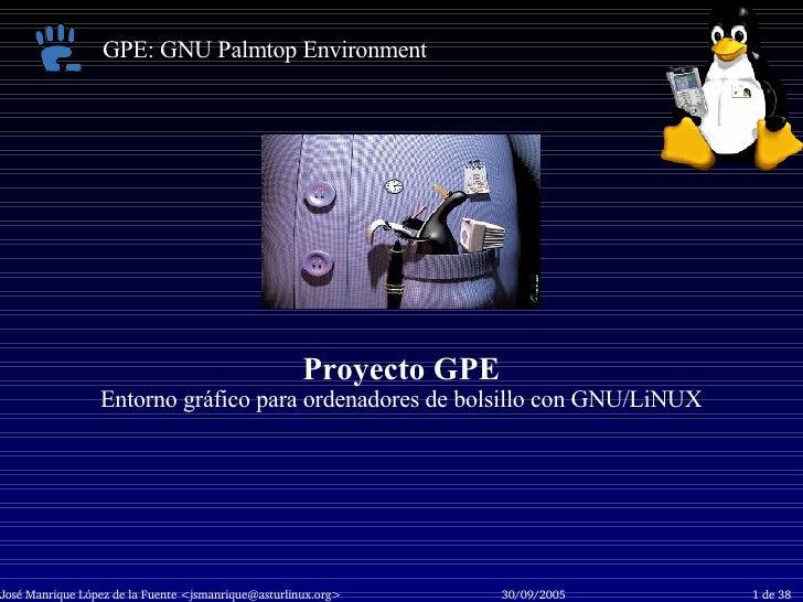 Proyecto GPE Entorno gráfico para ordenadores de bolsillo con GNU/LiNUX