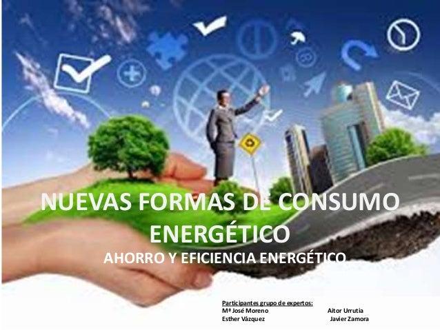NUEVAS FORMAS DE CONSUMO ENERGÉTICO AHORRO Y EFICIENCIA ENERGÉTICO Participantes grupo de expertos: Mª José Moreno Aitor U...