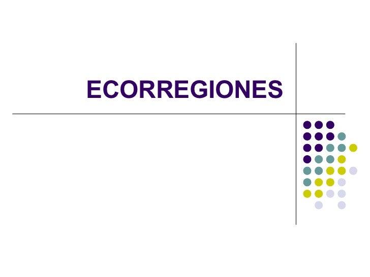 ECORREGIONES