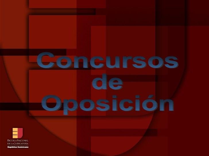 Concursos  de  Oposición