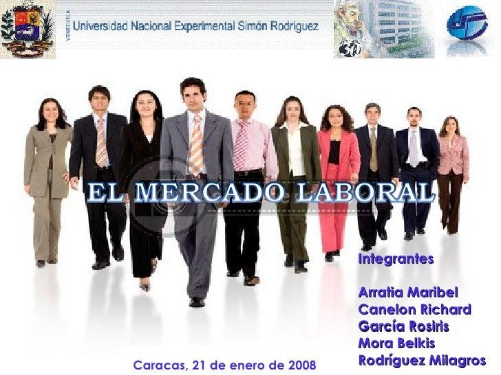 Caracas, 21 de enero de 2008 Integrantes Arratia Maribel  Canelon Richard García Rosiris Mora Belkis Rodríguez Milagros
