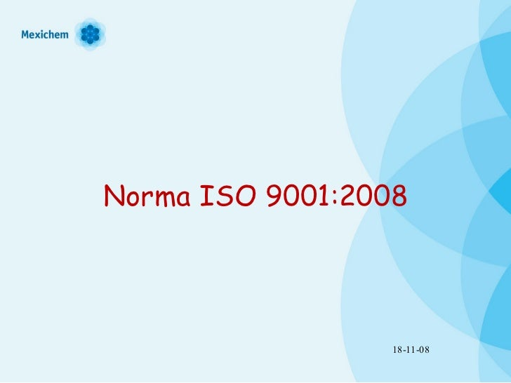 Norma ISO 9001:2008 18-11-08