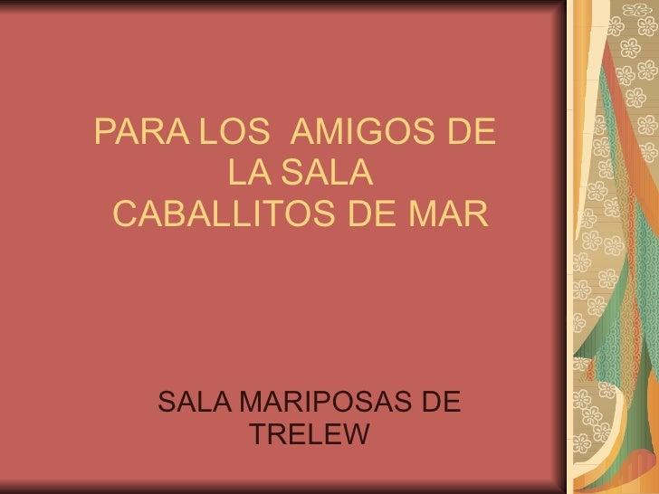PARA LOS  AMIGOS DE  LA SALA CABALLITOS DE MAR SALA MARIPOSAS DE TRELEW