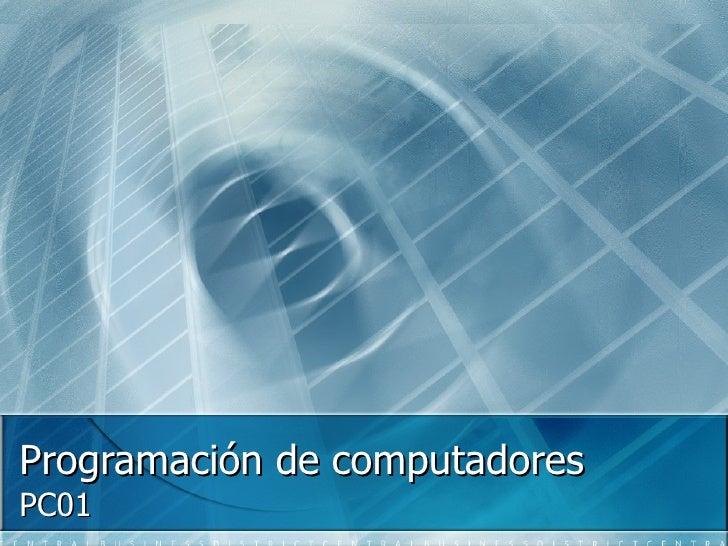 Programación de computadores PC01