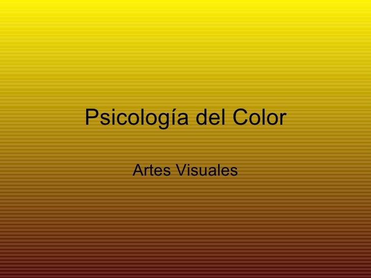 Psicología del Color Artes Visuales