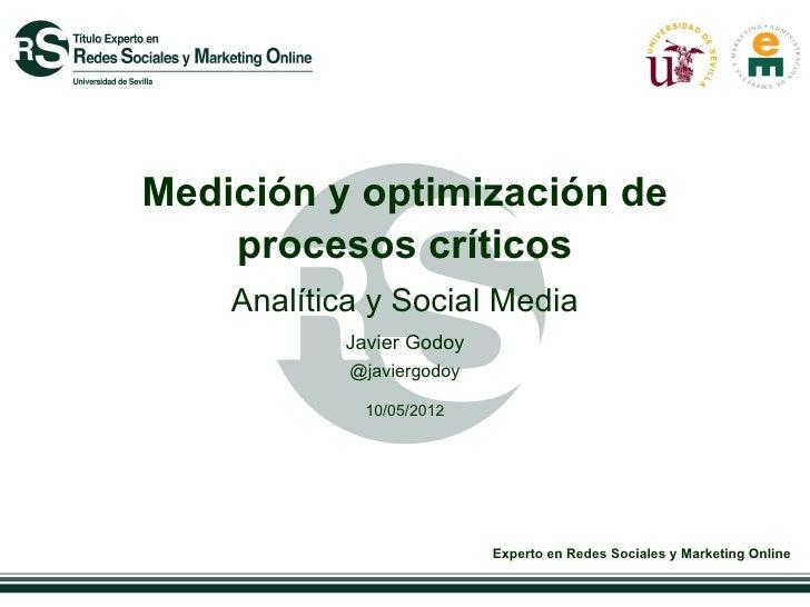 Medición y optimización de    procesos críticos    Analítica y Social Media           Javier Godoy            @javiergodoy...