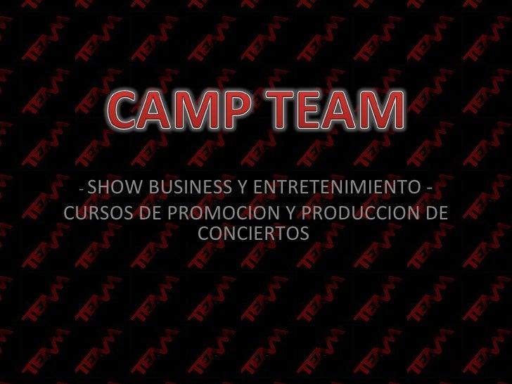 -  SHOW BUSINESS Y ENTRETENIMIENTO - CURSOS DE PROMOCION Y PRODUCCION DE CONCIERTOS