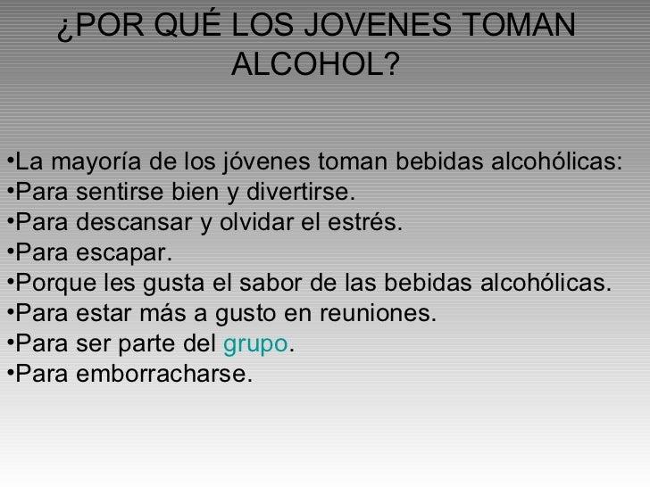 La estadística por el país por el alcoholismo y la narcomanía