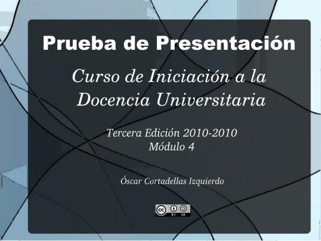 Módulo 4 CIDU 2010-2011