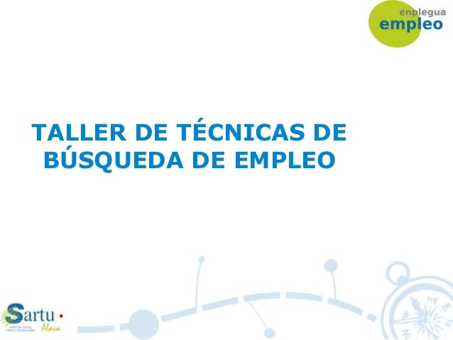 TALLER DE TÉCNICAS DE BÚSQUEDA DE EMPLEO