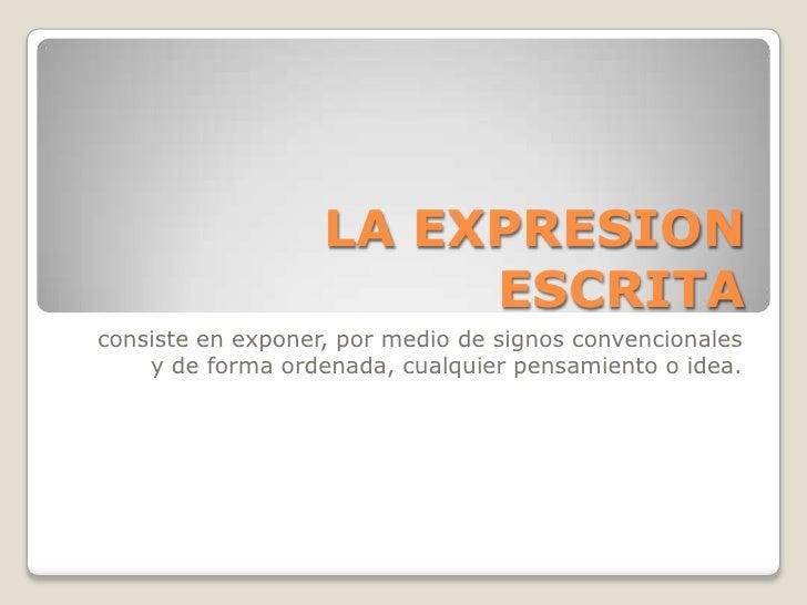 forma expresion escrita: