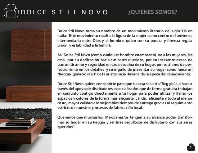 Dolce Stil Novo toma su nombre de un movimiento literario del siglo XIII en Italia. Este movimiento resalta la figura de l...