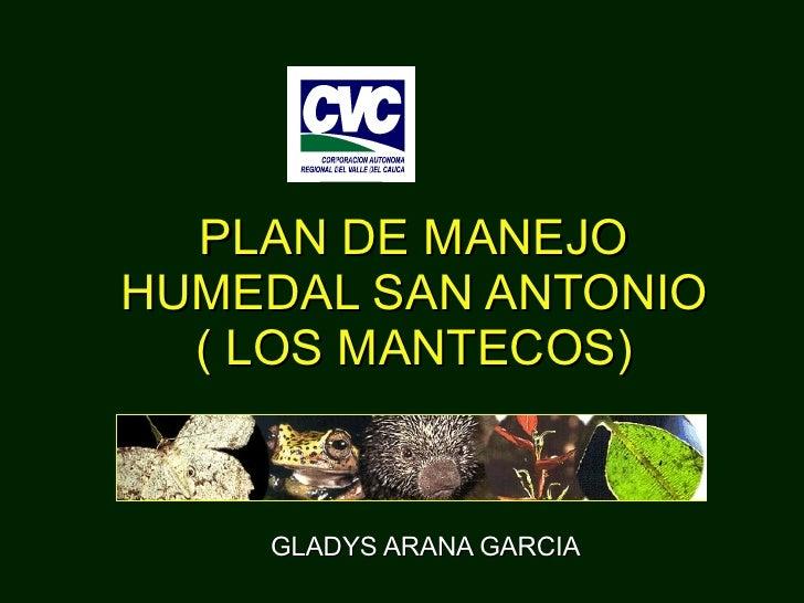 GLADYS ARANA GARCIA PLAN DE MANEJO HUMEDAL SAN ANTONIO ( LOS MANTECOS)