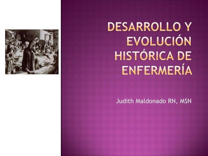 Desarrollo historico de la enfermería