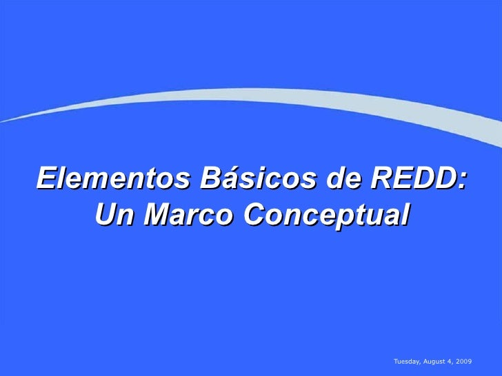 Marco Conceptual REDD