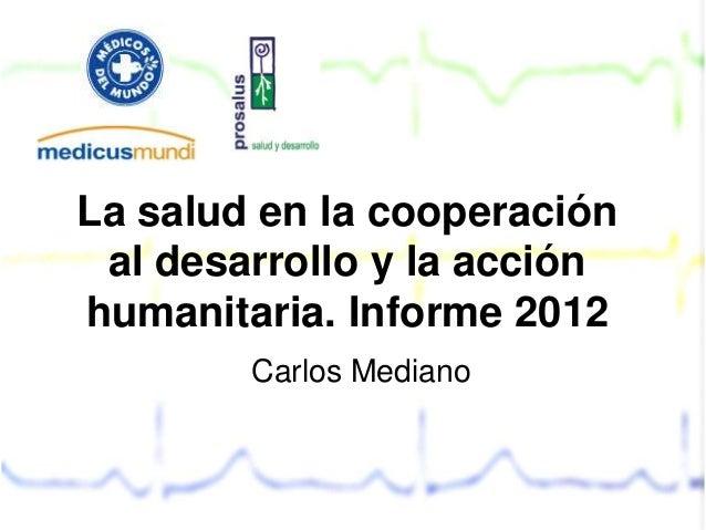 informe de salud y cooperacion 2012 navarra