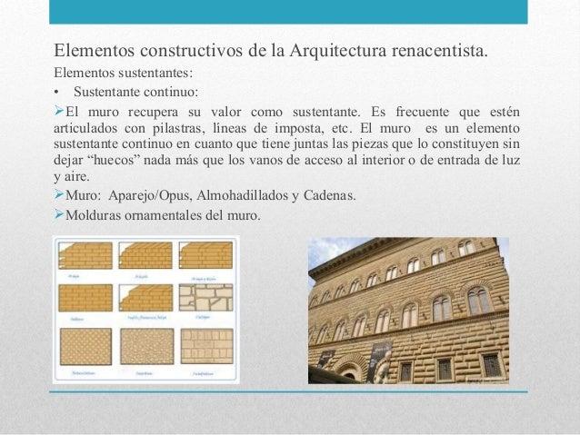 presentacion 3 arquitectura del renacimiento materiales For5 Tecnicas De La Arquitectura