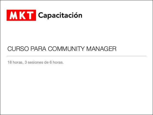 Curso para Community Manager
