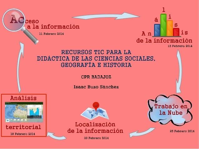 Las TIC para el análisis territorial de la información