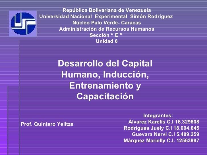 República Bolivariana de Venezuela Universidad Nacional  Experimental  Simón Rodríguez  Núcleo Palo Verde- Caracas Adminis...