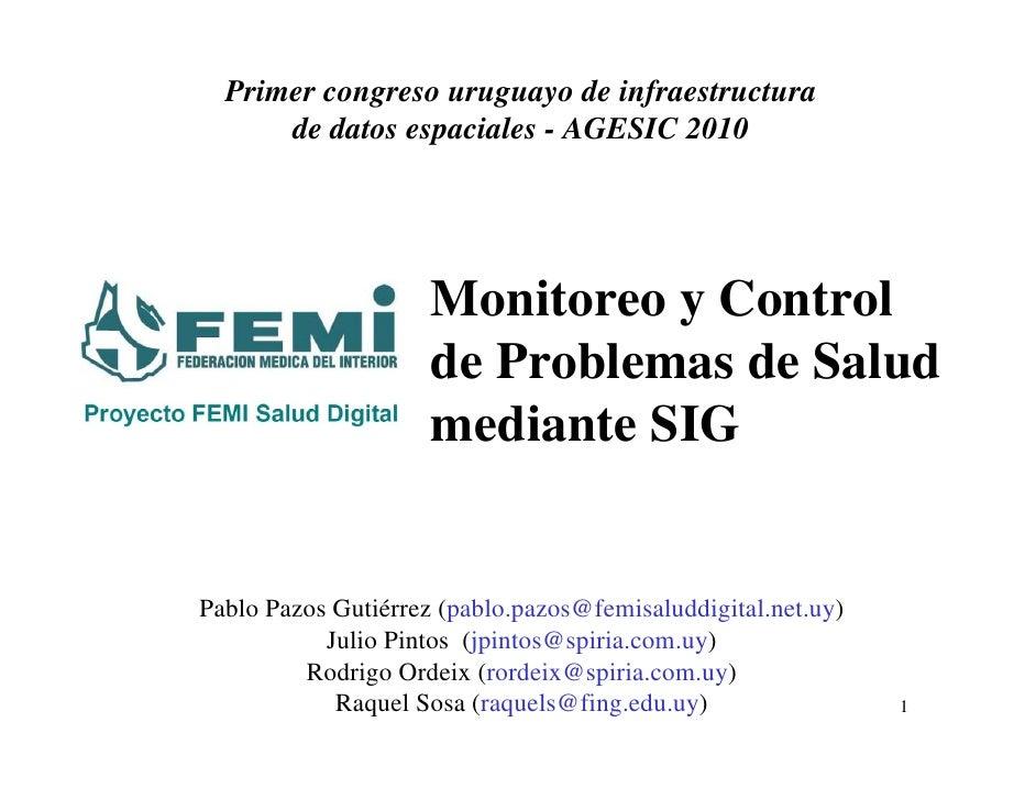 Sistema de control de enfermedades poblacionales mediante datos geográficos y georreferencia