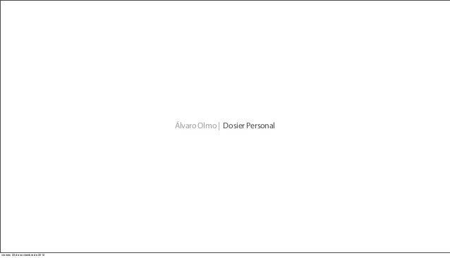 Álvaro Olmo | Dosier Personalviernes 23 de noviembre de 2012