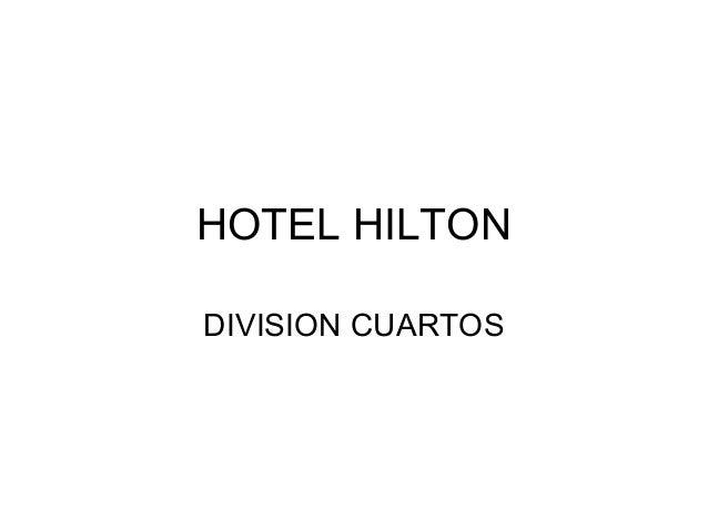 HOTEL HILTON DIVISION CUARTOS
