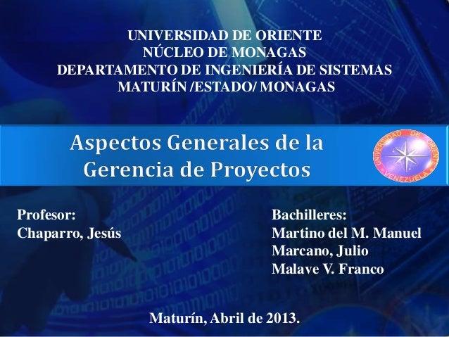 UNIVERSIDAD DE ORIENTE              NÚCLEO DE MONAGAS     DEPARTAMENTO DE INGENIERÍA DE SISTEMAS           MATURÍN /ESTADO...
