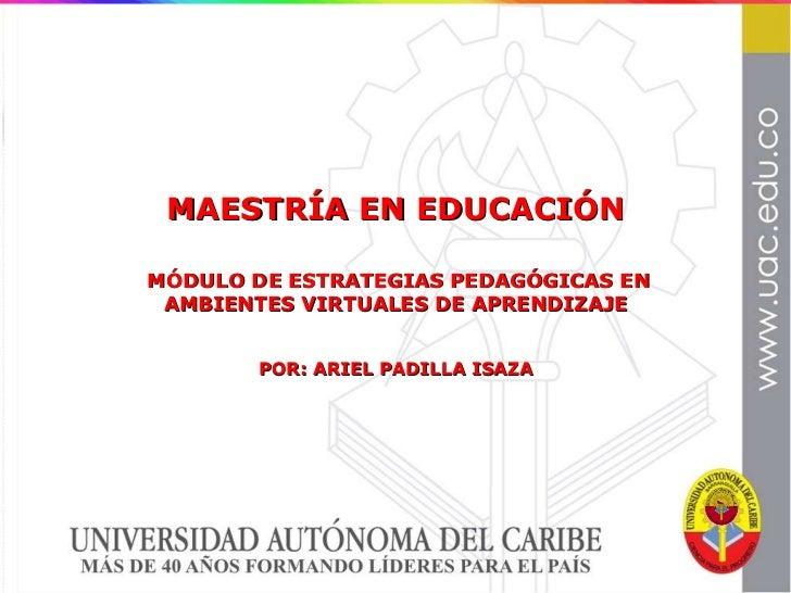 Modulo Estrategias Didácticas para Educación Virtual