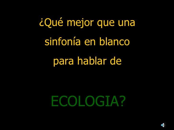 Presentacion  aura. ecologia