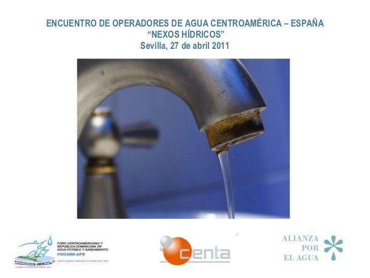 Presentación del Secretariado de la Alianza por el Agua