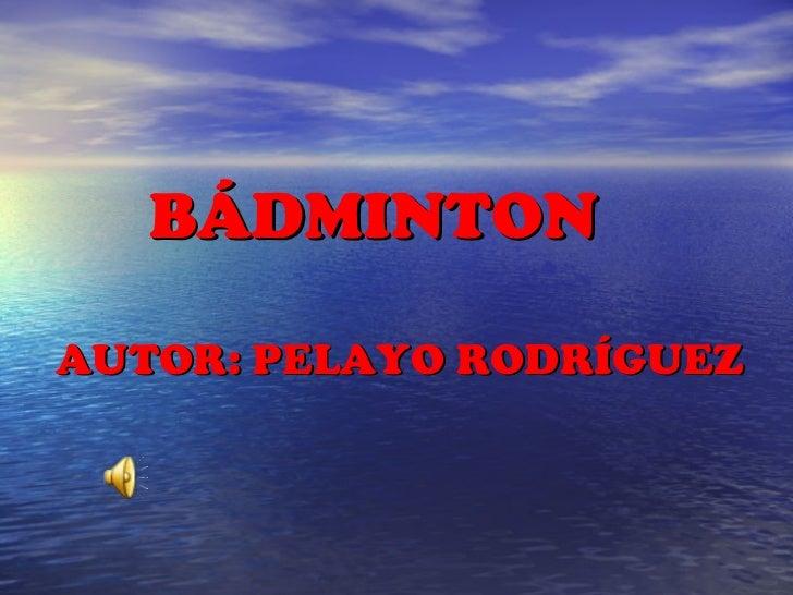 presentacion badminton