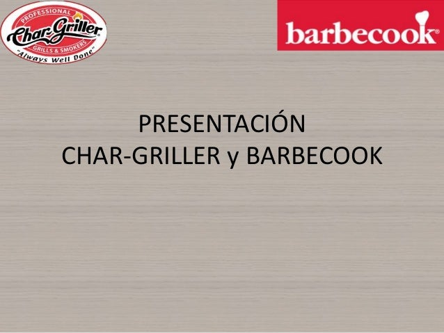 Presentacion Barbecook Chargriller