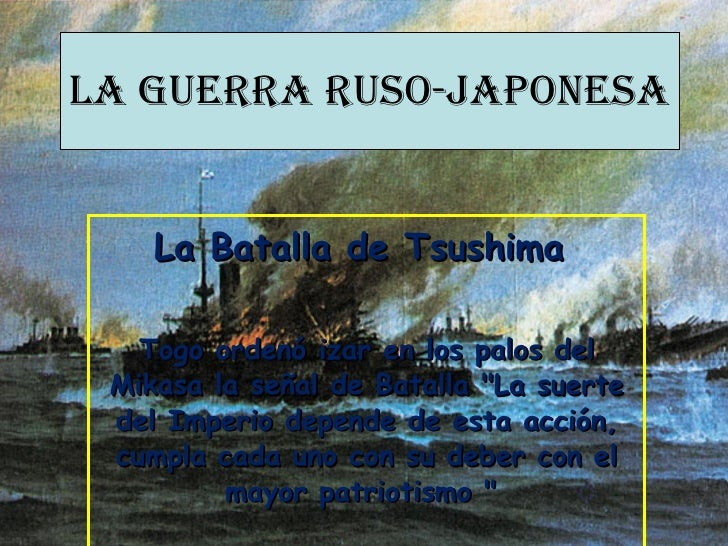 Presentacion batalla tsushima
