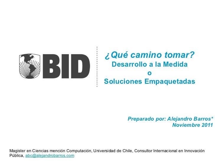 Presentacion Seminarios SIAF - Regional (BID)