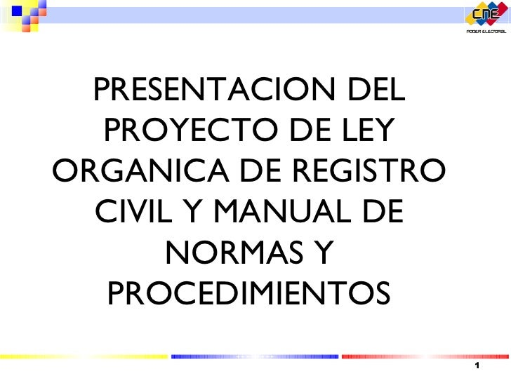 ley de registro civil: