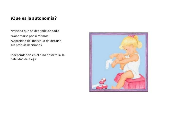 autonomía en preescolar