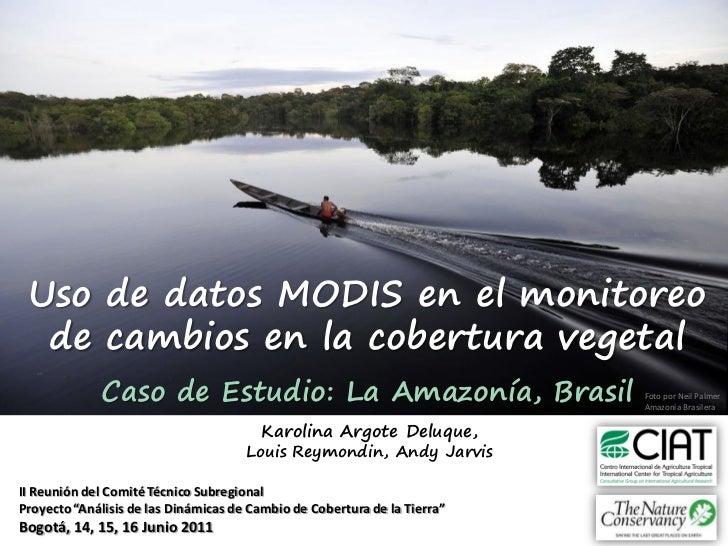 Uso de datos MODIS en el monitoreo  de cambios en la cobertura vegetal             Caso de Estudio: La Amazonía, Brasil   ...